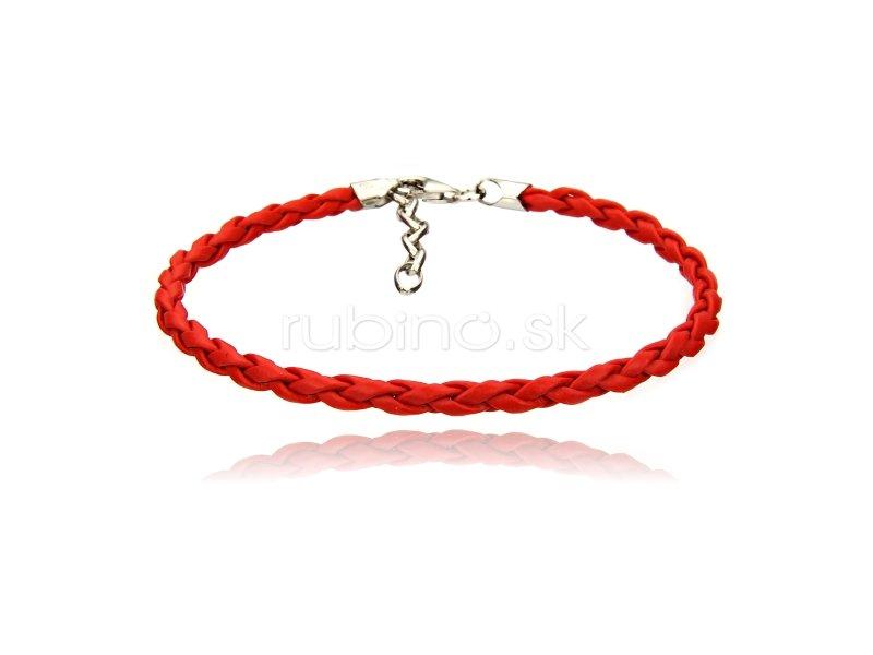 6377d4fca Náramok - D 101 K/červená | Náramky na ruku /imitácia kože/ | Rubino